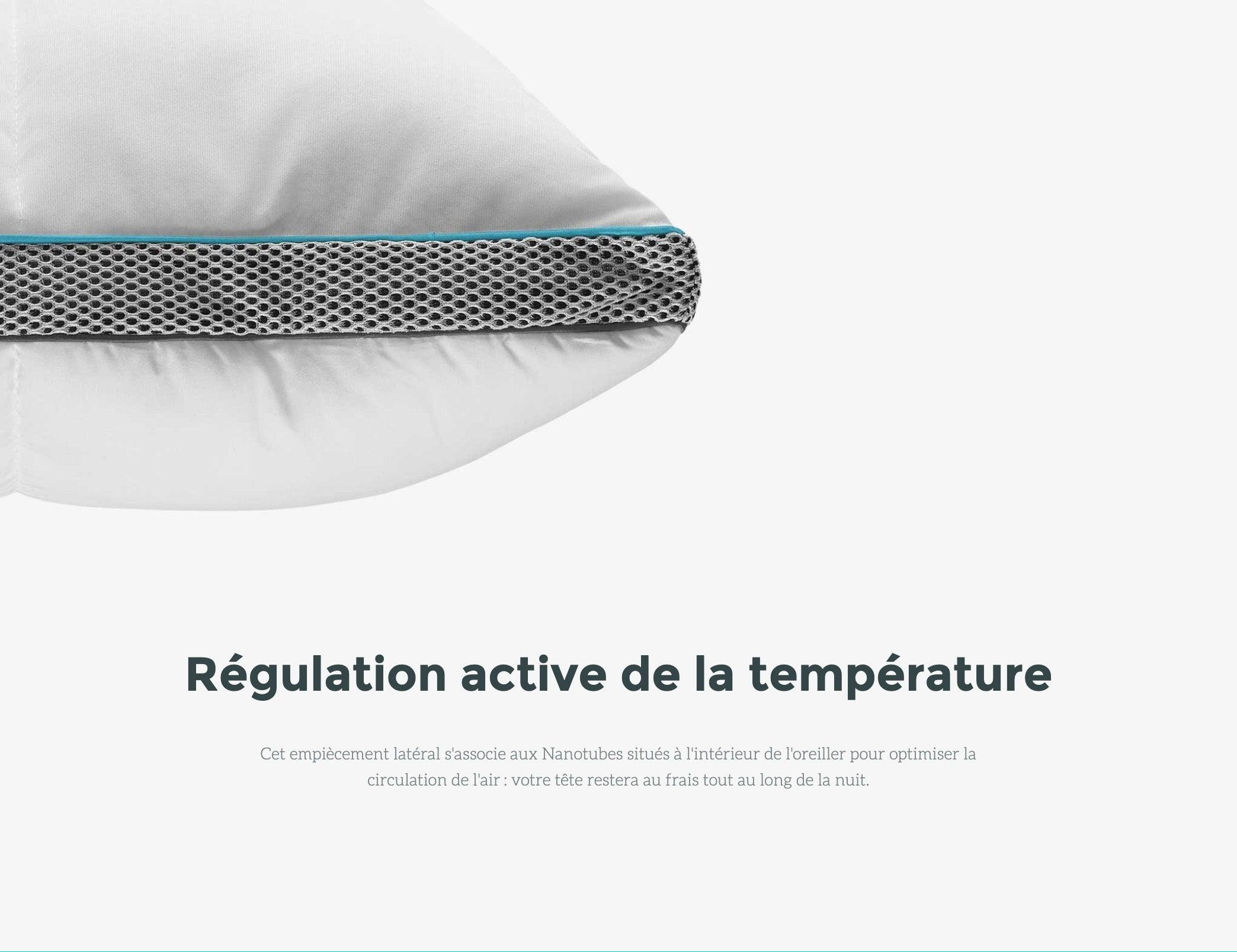 avec Outlast/® + Duvet - 65 x 65 cm Nanotubes /à M/émoire de Forme Simba Oreiller Hybrid