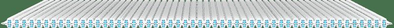 Les deux couches de ressorts (25mm) brevetés Aerocoil garantissent un confort optimal et durable